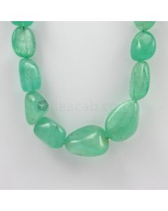 14.70 to 28 mm - 1 Line - Emerald Tumbled Beads - 673.50 carats (EmTub1063)