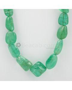 11 to 25 mm - 1 Line - Emerald Tumbled Beads - 647.00 carats (EmTub1071)