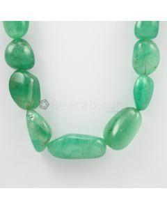 14 to 36 mm - 1 Line - Emerald Tumbled Beads - 710.00 carats (EmTub1081)