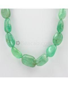 7 to 10 mm - 1 Line - Emerald Tumbled Beads - 564.50 carats (EmTub1083)
