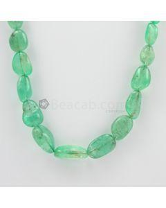 9 to 21 mm - 1 Line - Emerald Tumbled Beads - 323.00 carats (EmTub1084)