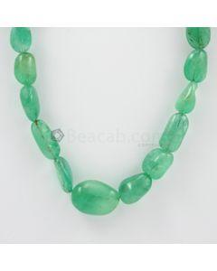 10 to 22 mm - 1 Line - Emerald Tumbled Beads - 466.50 carats (EmTub1085)