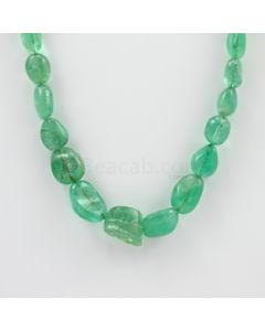 9 to 13 mm - 1 Line - Emerald Tumbled Beads - 256.00 carats (EmTub1086)