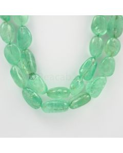 8 to 22 mm - 2 Lines - Emerald Tumbled Beads - 892.00 carats (EmTub1087)