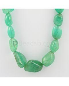 13.00 to 26.00 mm - 1 Line - Emerald Tumbled Beads - 489.50 carats (EmTuB1043)