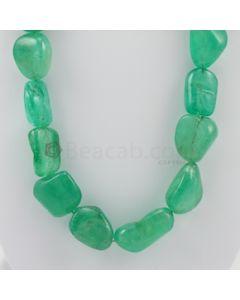 20.00 to 35.00 mm - 1 Line - Emerald Tumbled Beads - 1684.00 carats (EmTuB1044)