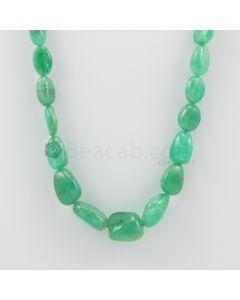9.00 to 16.50 mm - 1 Line - Emerald Tumbled Beads - 192.76 carats (EmTuB1048)
