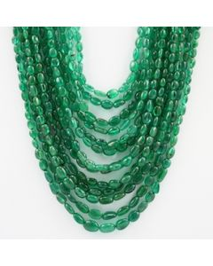 5.00 to 10.00 mm - 13 Lines - Emerald Tumbled Beads - 829.70 carats (EmTuB1051)