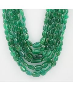 6.00 to 14.00 mm - 6 Lines - Emerald Tumbled Beads - 770.80 carats (EmTuB1055)