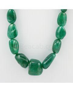 14.50 to 20.50 mm - 1 Line - Emerald Tumbled Beads - 501.00 carats (EmTuB1056)