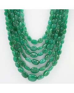 6.00 to 15.00 mm - 6 Lines - Emerald Tumbled Beads - 509.50 carats (EmTuB1057)