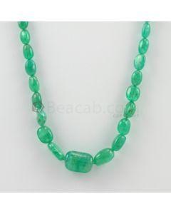 7.00 to 17.00 mm - 1 Line - Emerald Tumbled Beads - 115.06 carats (EmTuB1058)