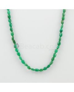 5.50 to 6.00 mm - 1 Line - Emerald Tumbled Beads - 44.51  carats (EmTuB1059)