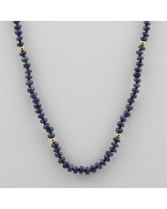 Sapphire Faceted - 1 Line - 63.00 carats - 18 inches - (CSNKL1016)