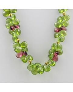 Peridot, Tourmaline Faceted - 1 Line - 355.50 carats - 16 inches - (CSNKL1031)