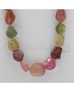 Multi-Sapphire Tumbled - 1 Line - 633.40 carats - 23 inches - (MSTUB1008)
