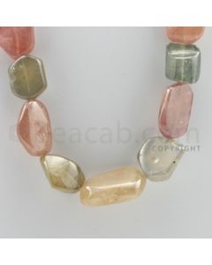 Multi-Sapphire Tumbled - 1 Line - 923.00 carats - 19 inches - (MSTUB1013)