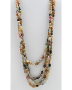 Multi-Sapphire Faceted Long Beads - 4 Lines - 694.00 carats - 17 to 22 inches - (MSFLB1001)