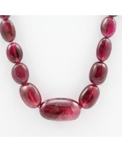 Pink Tourmaline Long Tumbled Beads - 1 Line - 135.70 carats - 16 inches - (ToTub1013)