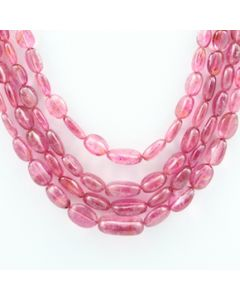 Pink Tourmaline Long Tumbled Beads - 4 Lines - 193.30 carats - 16 to 18 inches - (ToTub1015)