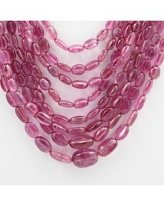 Pink Tourmaline Long Tumbled Beads - 8 Lines - 365.00 carats - 15 to 20 inches - (ToTub1017)