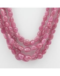 Pink Sapphire Tumbled - 4 Lines - 589.40 carats - 16 to 19 inches - (PnSTuB1002)