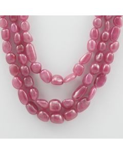 Pink Sapphire Tumbled - 3 Lines - 398.45 carats - 14 to 16 inches - (PnSTuB1003)