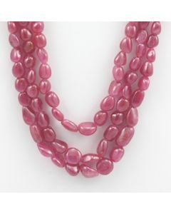 Pink Sapphire Tumbled - 3 Lines - 533.00 carats - 19 to 21 inches - (PnSTuB1004)