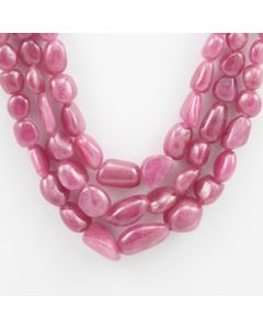 Pink Sapphire Tumbled - 3 Lines - 468.35 carats - 14 to 18 inches - (PnSTuB1005)