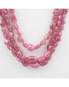 Pink Sapphire Tumbled - 3 Lines - 373.80 carats - 16 to 18 inches - (PnSTuB1007)