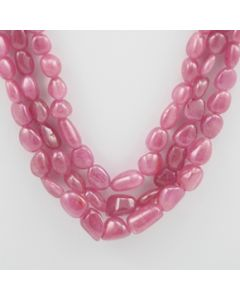 Pink Sapphire Tumbled - 3 Lines - 442.50 carats - 17 to 19 inches - (PnSTuB1008)