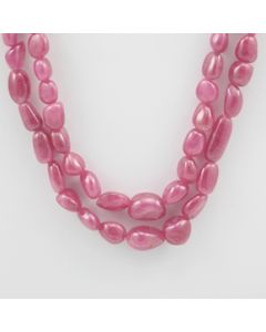 Pink Sapphire Tumbled - 2 Lines - 301.00 carats - 17 to 18 inches - (PnSTuB1010)