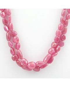 Pink Sapphire Tumbled - 2 Lines - 219.05 carats - 16 to 17 inches - (PnSTuB1012)