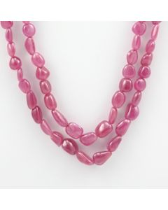 Pink Sapphire Tumbled - 2 Lines - 248.95 carats - 17 to 18 inches - (PnSTuB1016)