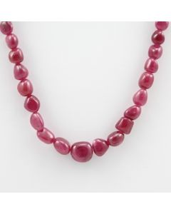 Pink Sapphire Tumbled - 1 Line - 133.85 carats - 16 inches - (PnSTuB1017)