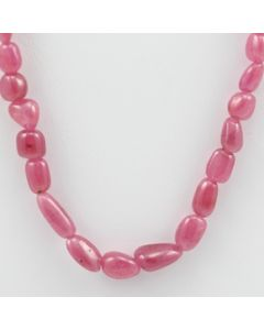 Pink Sapphire Tumbled - 1 Line - 147.60 carats - 17 inches - (PnSTuB1018)