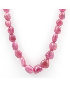 Pink Sapphire Tumbled - 1 Line - 164.60 carats - 17 inches - (PnSTuB1019)