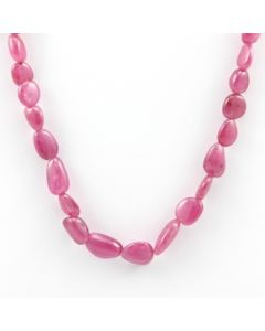 Pink Sapphire Tumbled - 1 Line - 99.35 carats - 15 inches - (PnSTuB1020)