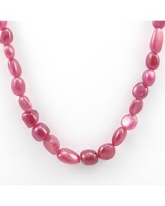 Pink Sapphire Tumbled - 1 Line - 139.00 carats - 16 inches - (PnSTuB1021)
