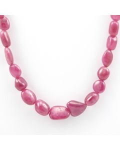 Pink Sapphire Tumbled - 1 Line - 183.80 carats - 17 inches - (PnSTuB1022)