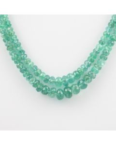 Emerald Faceted - 2 Lines - 47.25 carats - 11 to 12 inches - (EmFB1002)