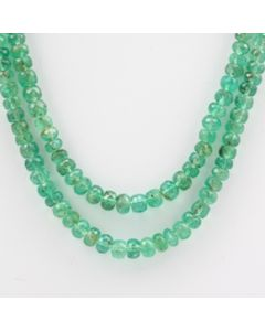Emerald Faceted - 2 Lines - 138.91 carats - 20 to 21 inches - (EmFB1005)