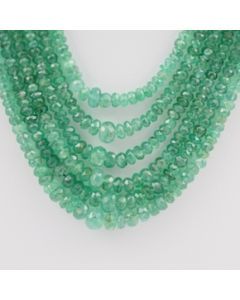 Emerald Faceted - 6 Lines - 171.00 carats - 15 to 18 inches - (EmFB1010)