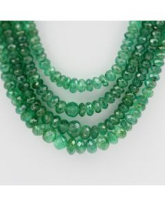 Emerald Faceted - 4 Lines - 224.50 carats - 21 to 23 inches - (EmFB1011)