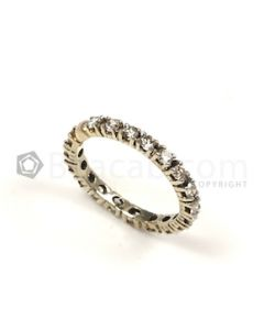 Round Shape White Diamond Ring in 14kt White Gold - 2.27 grams - EST1317