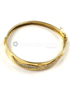Round Shape White Diamond Bracelet in 14kt Yellow Gold - 12.7 grams - EST1332