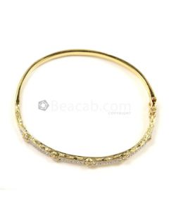 Round Shape White Diamond Bracelet in 18kt Yellow Gold - 12 grams - EST1333
