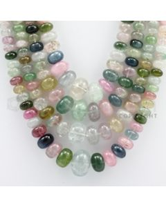 Multi-Tourmaline Roundel Beads - 4 Lines - 689.05 carats - 15 to 20 inches - (MTour1004)