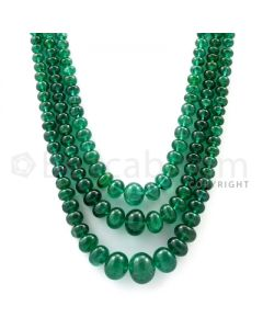 Medium Green Emerald Plain Beads (EMSB1045)