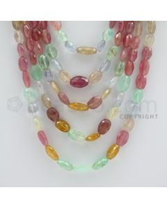 Multi-Sapphire Faceted Long Beads - 5 Lines - 642.70 carats - 16 to 23 inches - (MSFLB1009)
